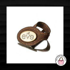 EVE CORK BROWN LOOP STRAP & GOLD METAL KEY FOB BAG